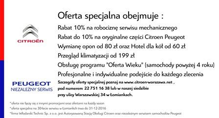 30 lat Citroen Włodarski Warszawa Łomianki Peugeot