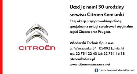 30 lat Citroen Włodarski Warszawa Łomianki